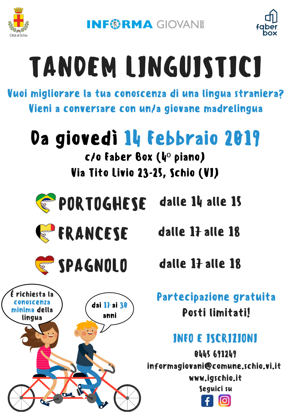 Tandem linguistici in partenza