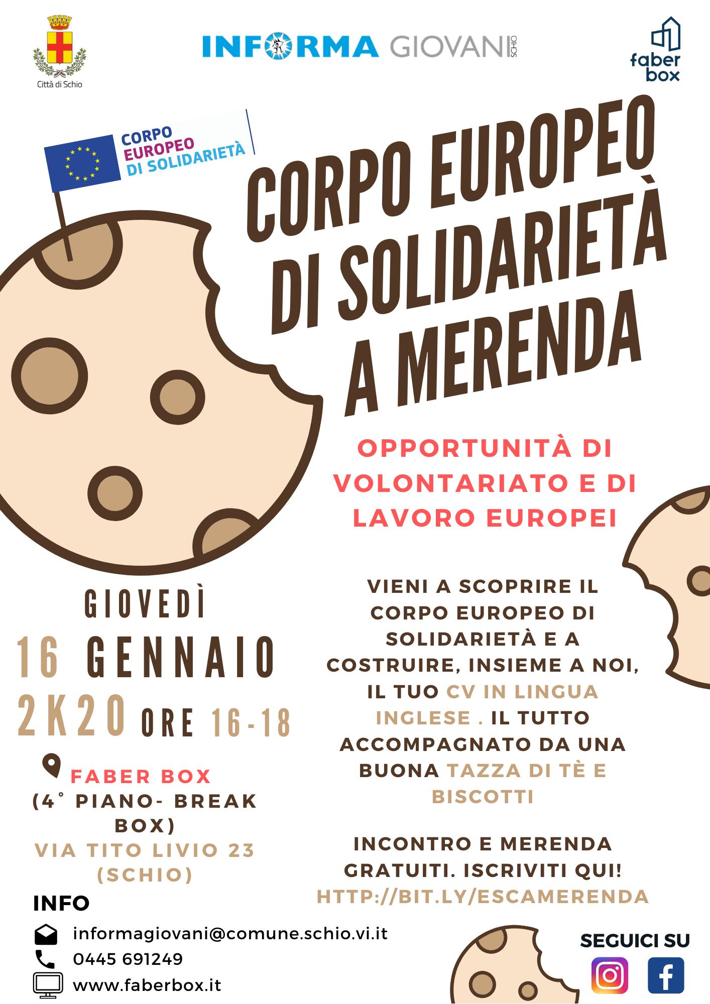 Corpo europeo di solidarietà a merenda
