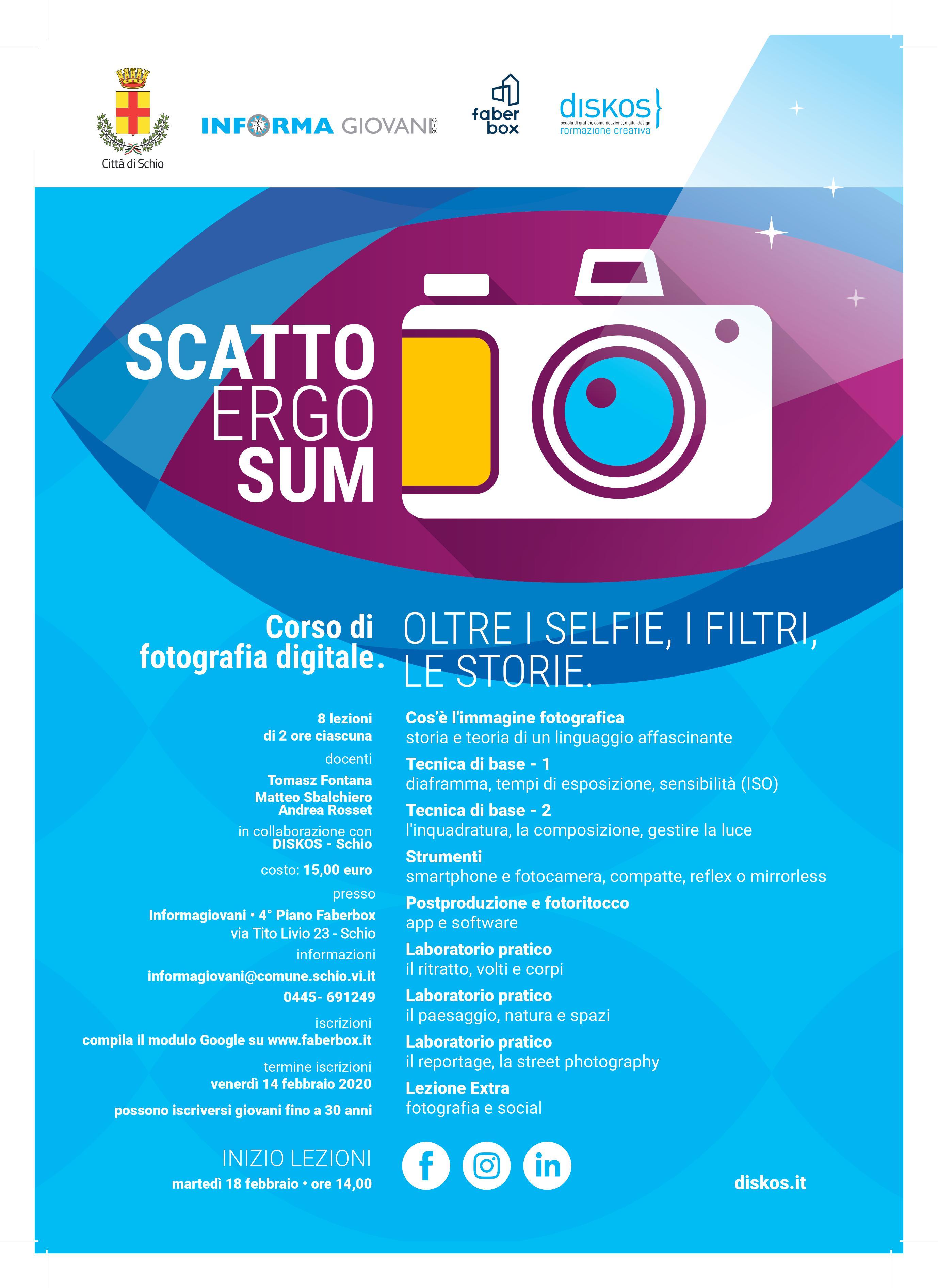Scatto Ergo Sum – Corso di fotografia digitale