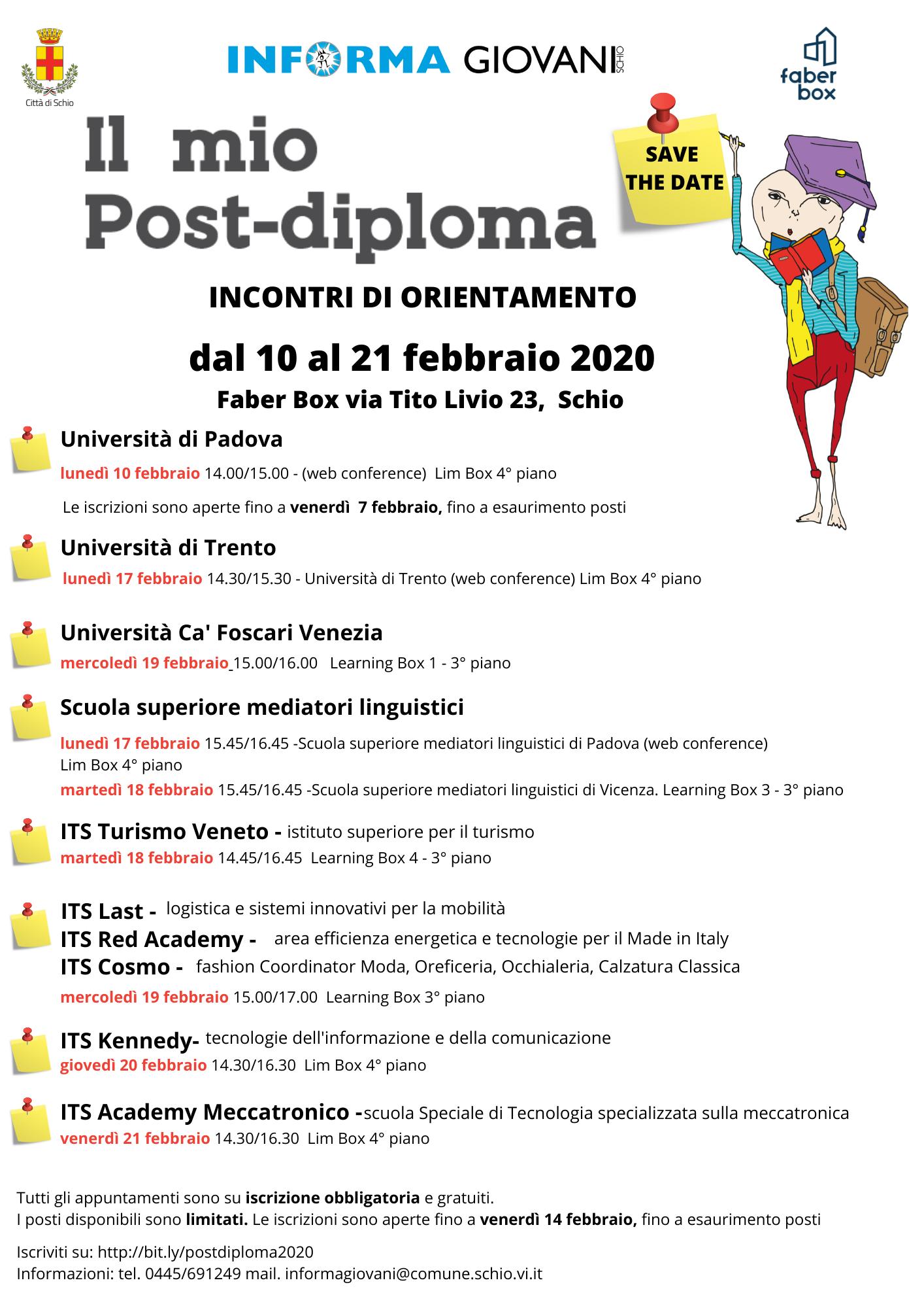 Il mio post-diploma – Ed. 2020