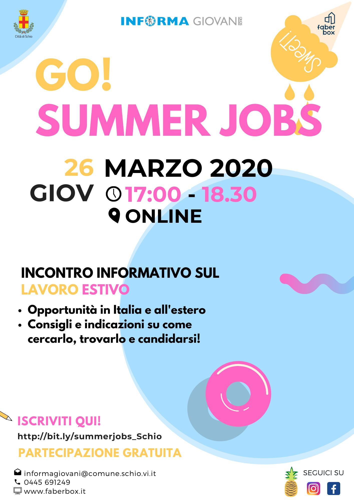 Go! Summer jobs