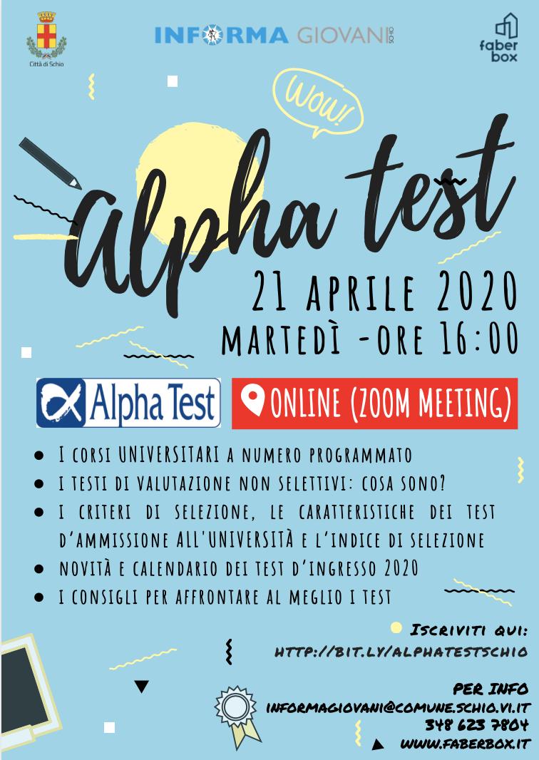 Alphatest – incontro online