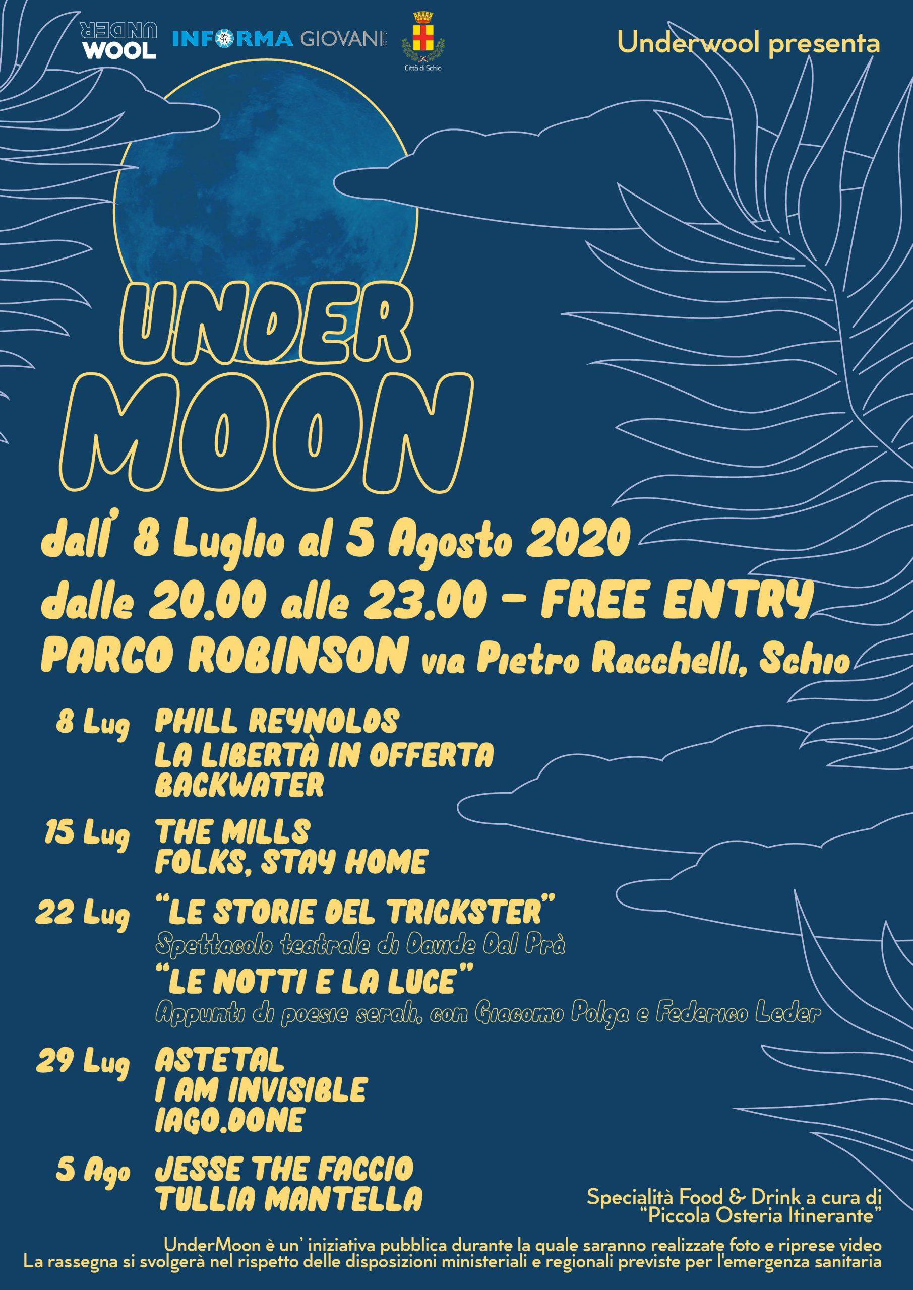 UnderMoon – musica e teatro al Parco Robinson