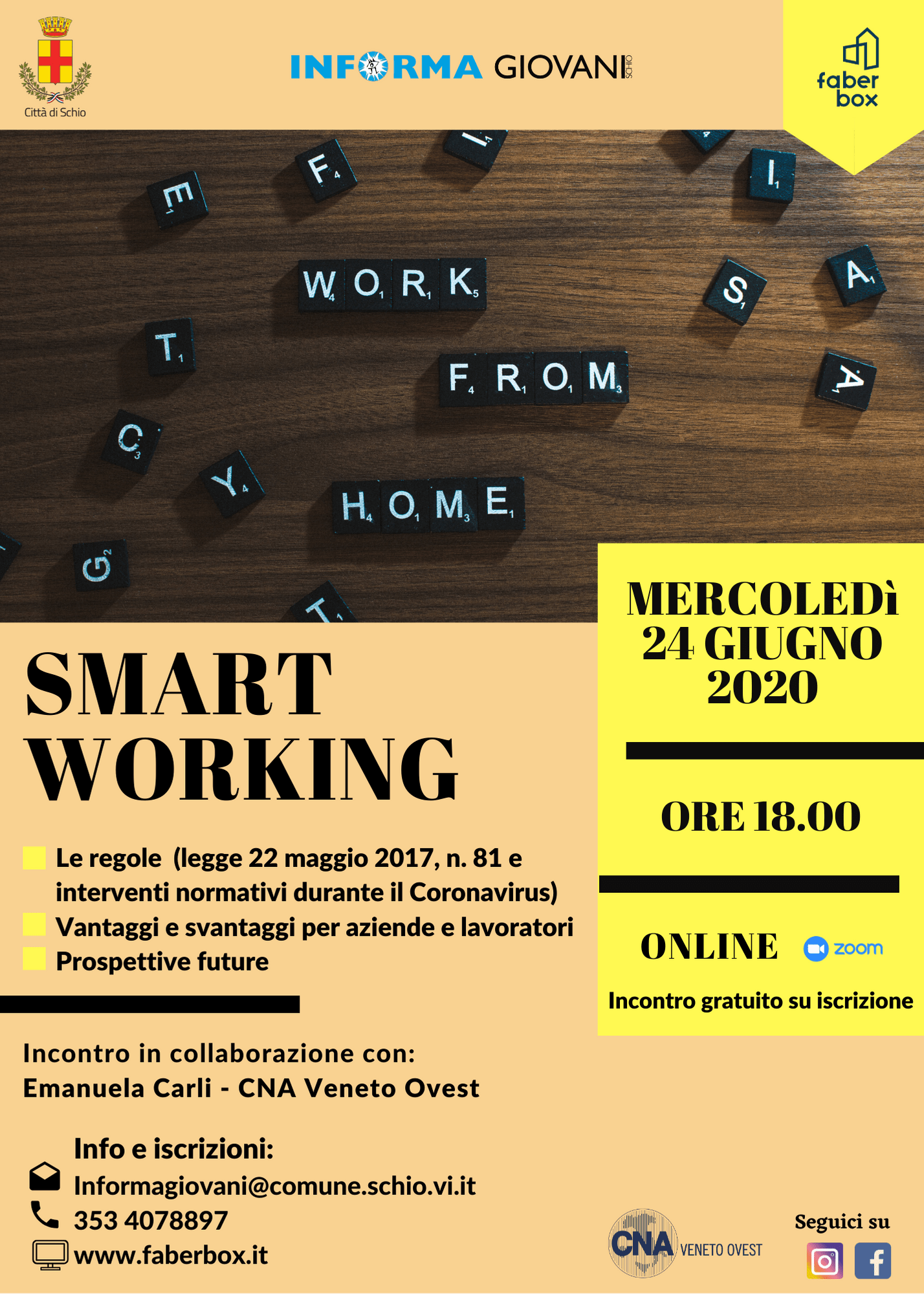 Incontro online: smart working
