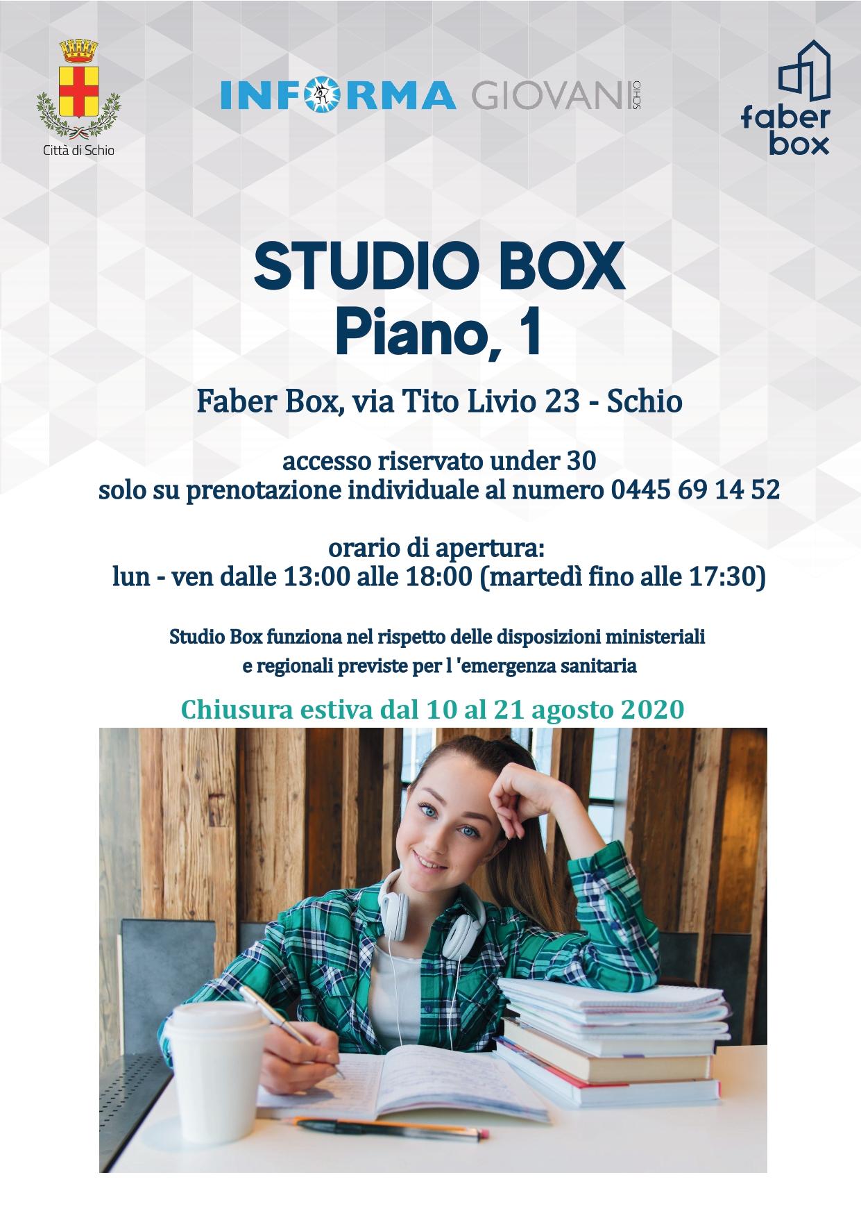 Studio Box: spazio dedicato allo studio degli under 30