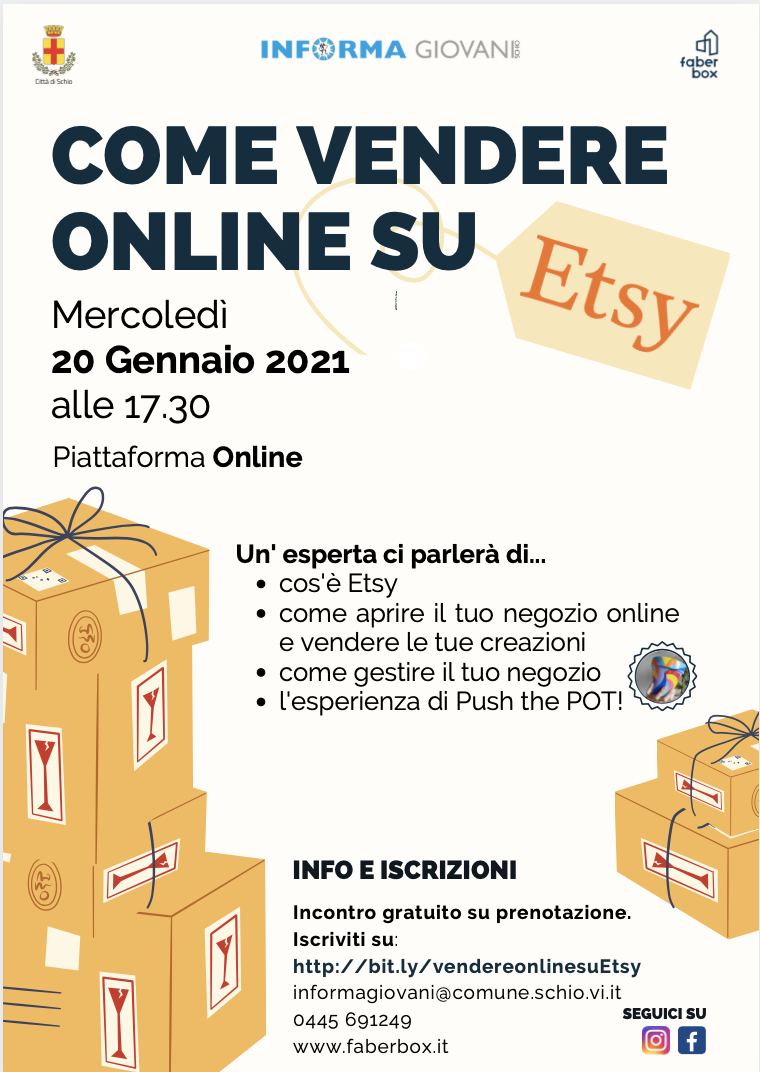 Come vendere online su Etsy