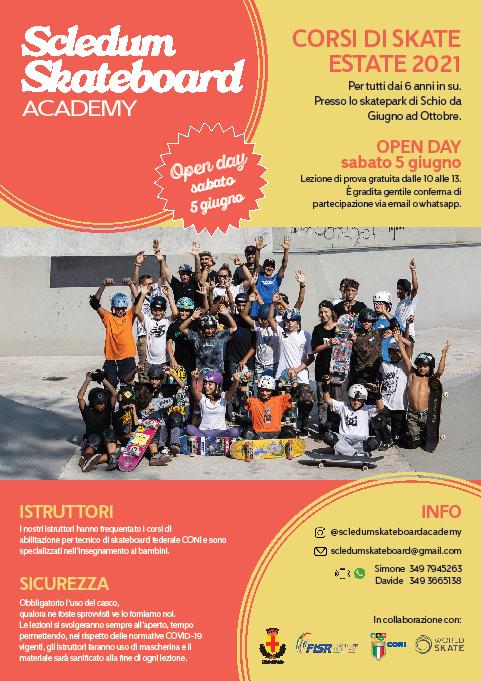 Scledum skateboard academy | Corso di skateboard a Schio
