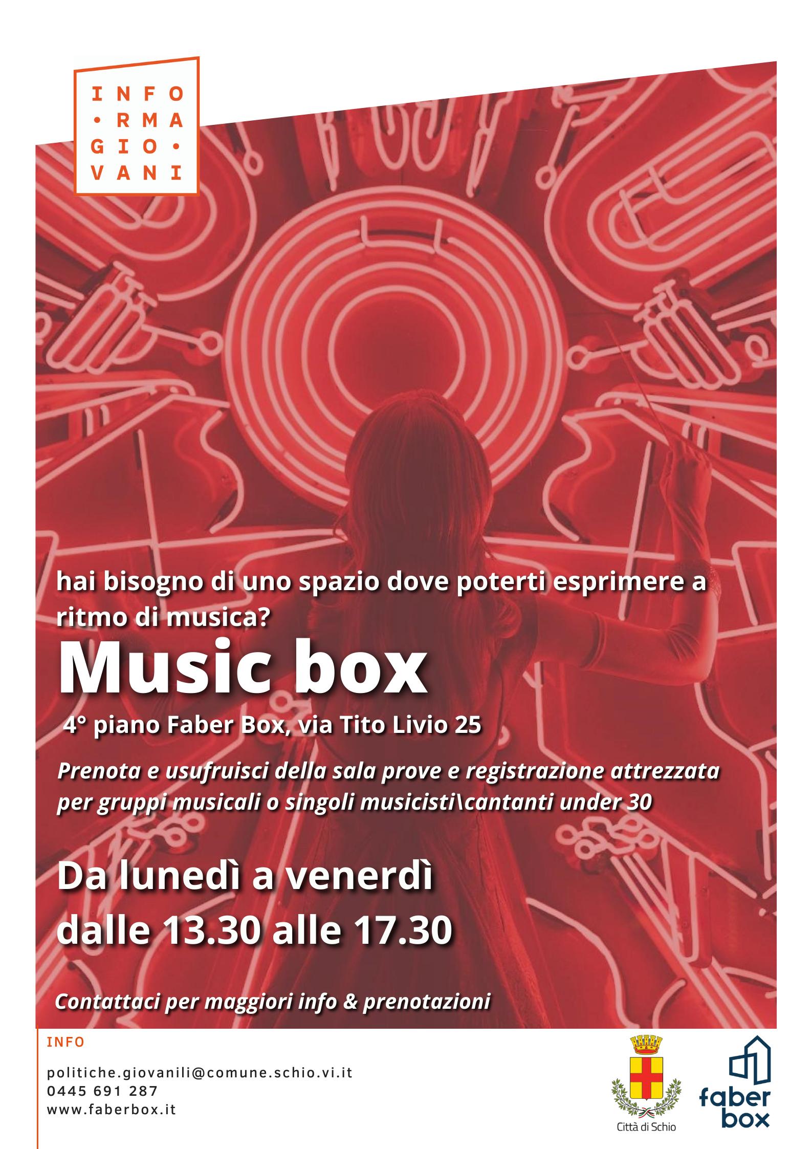 Apertura music box – Nuova sala di registrazione