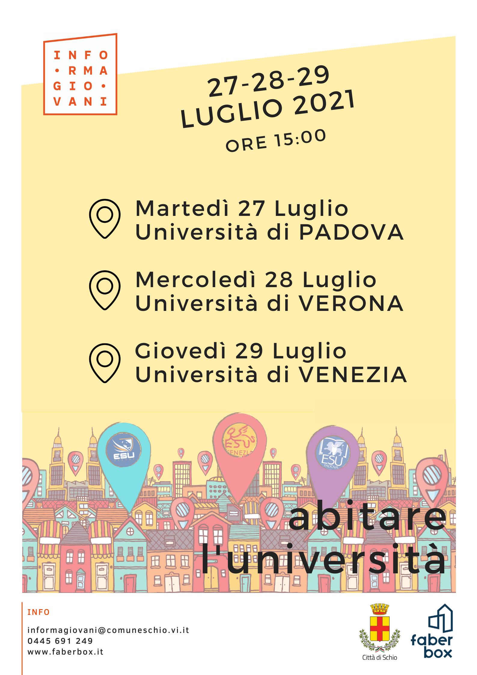 Abitare l'Università | Incontra gli ESU del Veneto