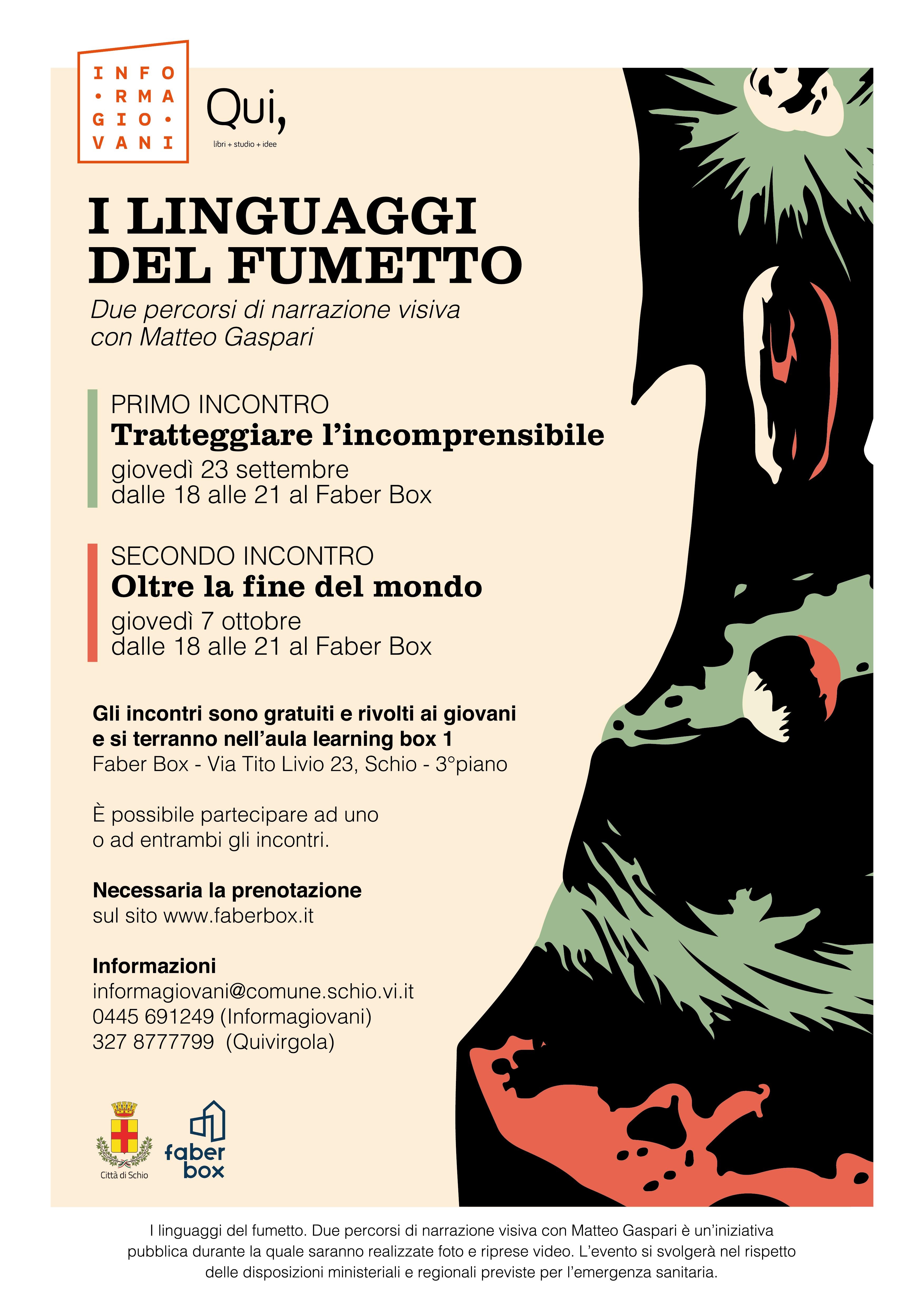 I linguaggi del fumetto – due percorsi di narrazione visiva al Faber Box