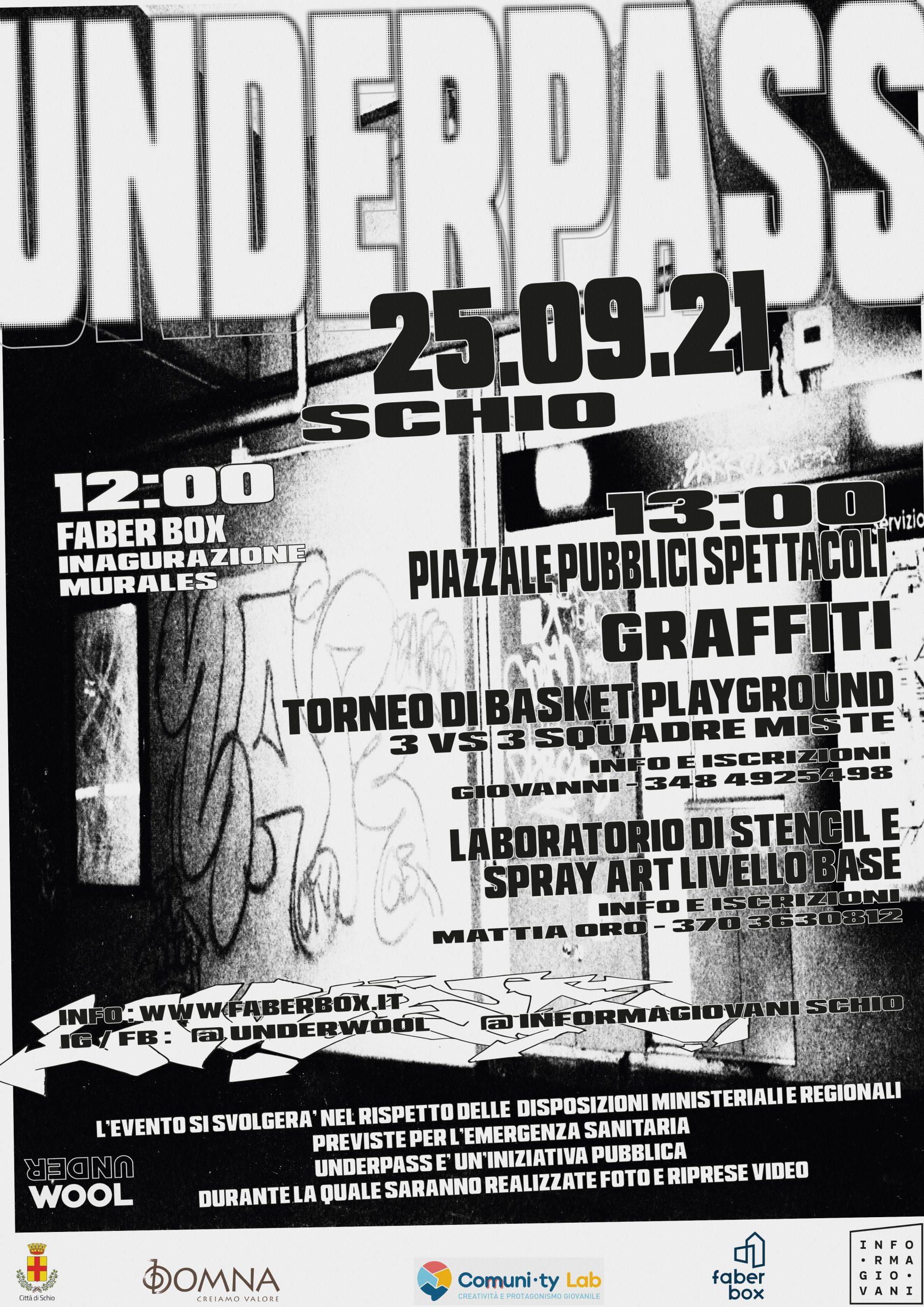 UNDERPASS: graffiti jam & torneo basket 3v3