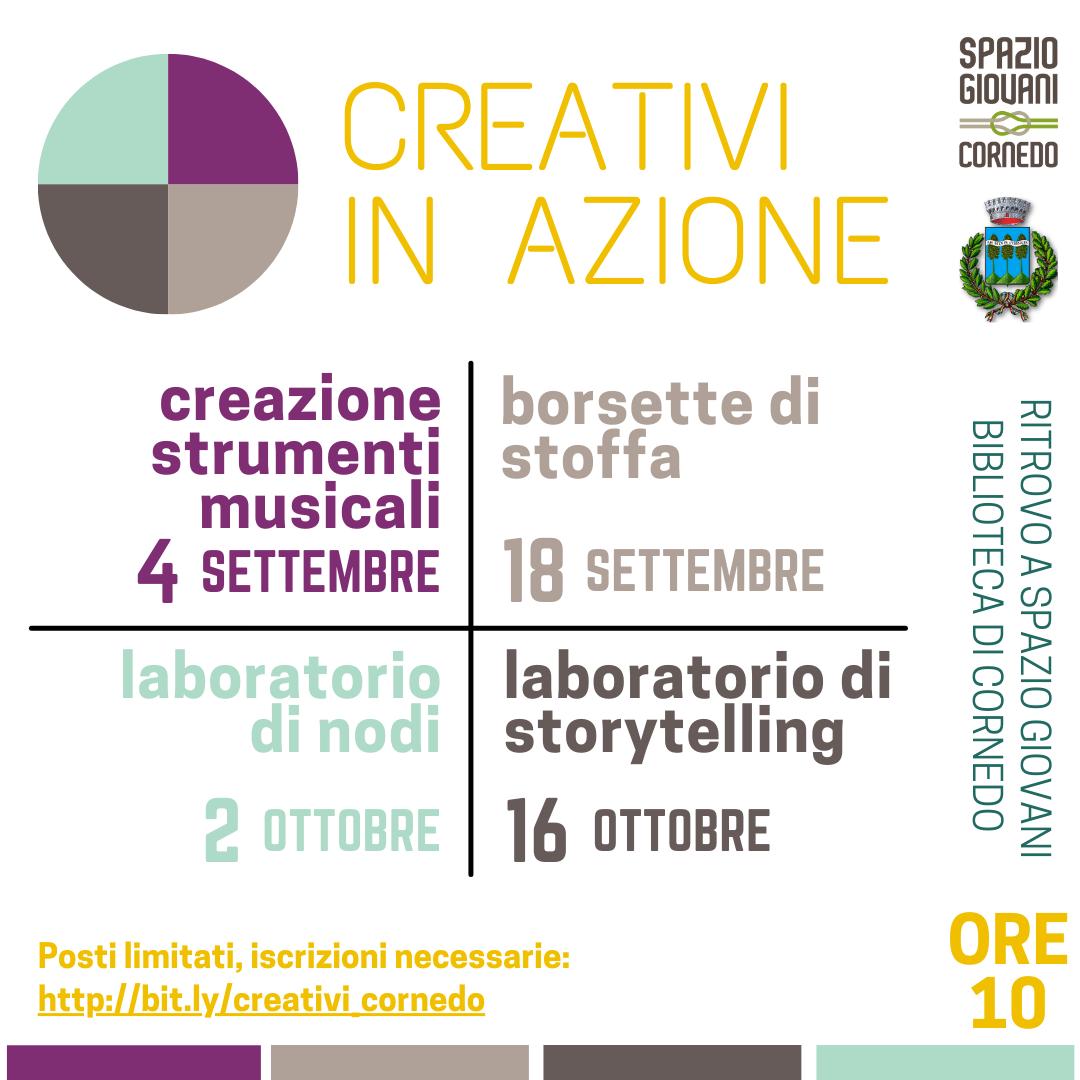 CREATIVI IN AZIONE! I laboratori di settembre e ottobre