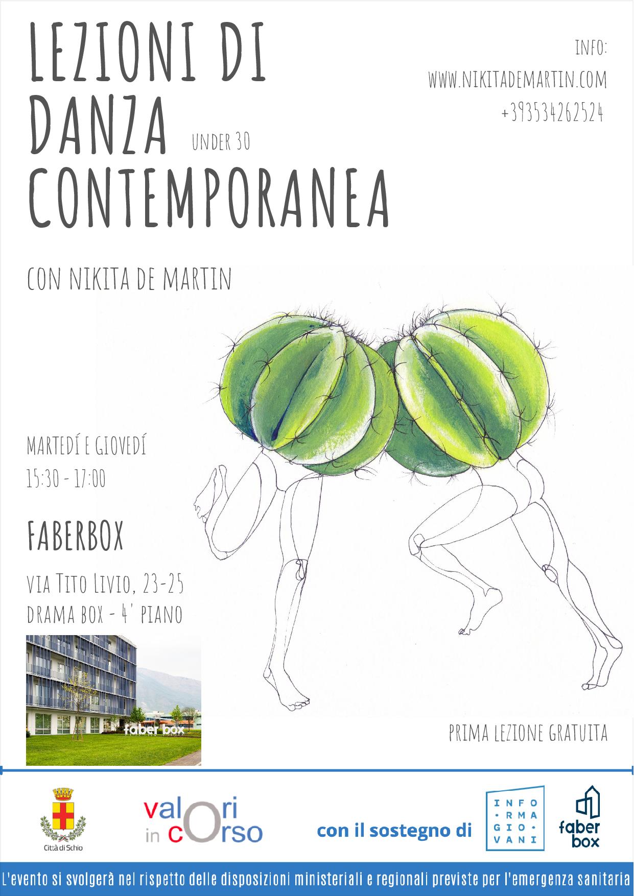 Contemporary dance classes al Faber Box