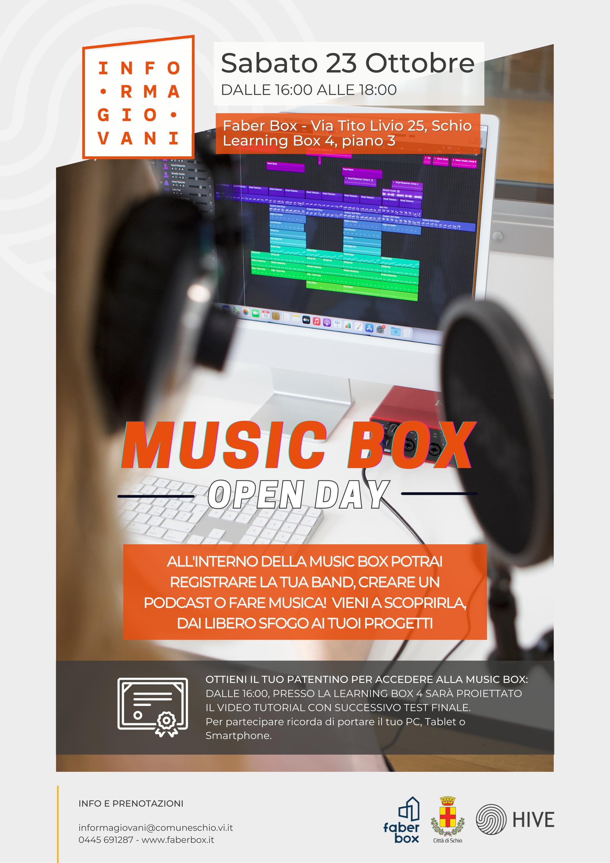 Open day Music Box e sala di registrazione