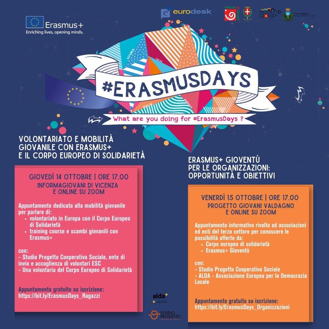 Incontri su mobilità giovanile e progettazione europea il 14 e 15 ottobre.