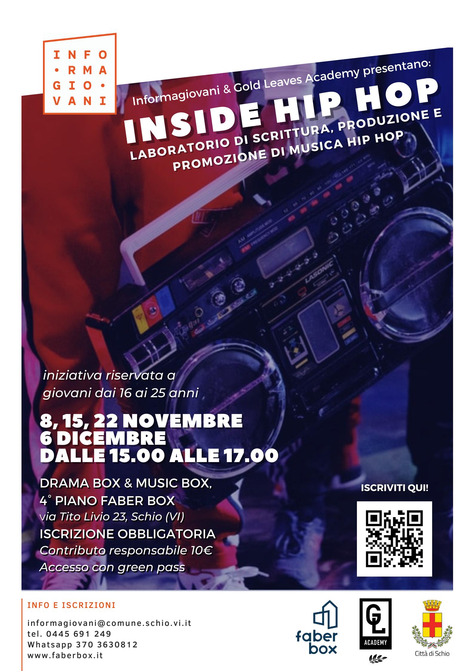 INSIDE HIP HOP: laboratorio di scrittura, produzione e promozione di musica rap