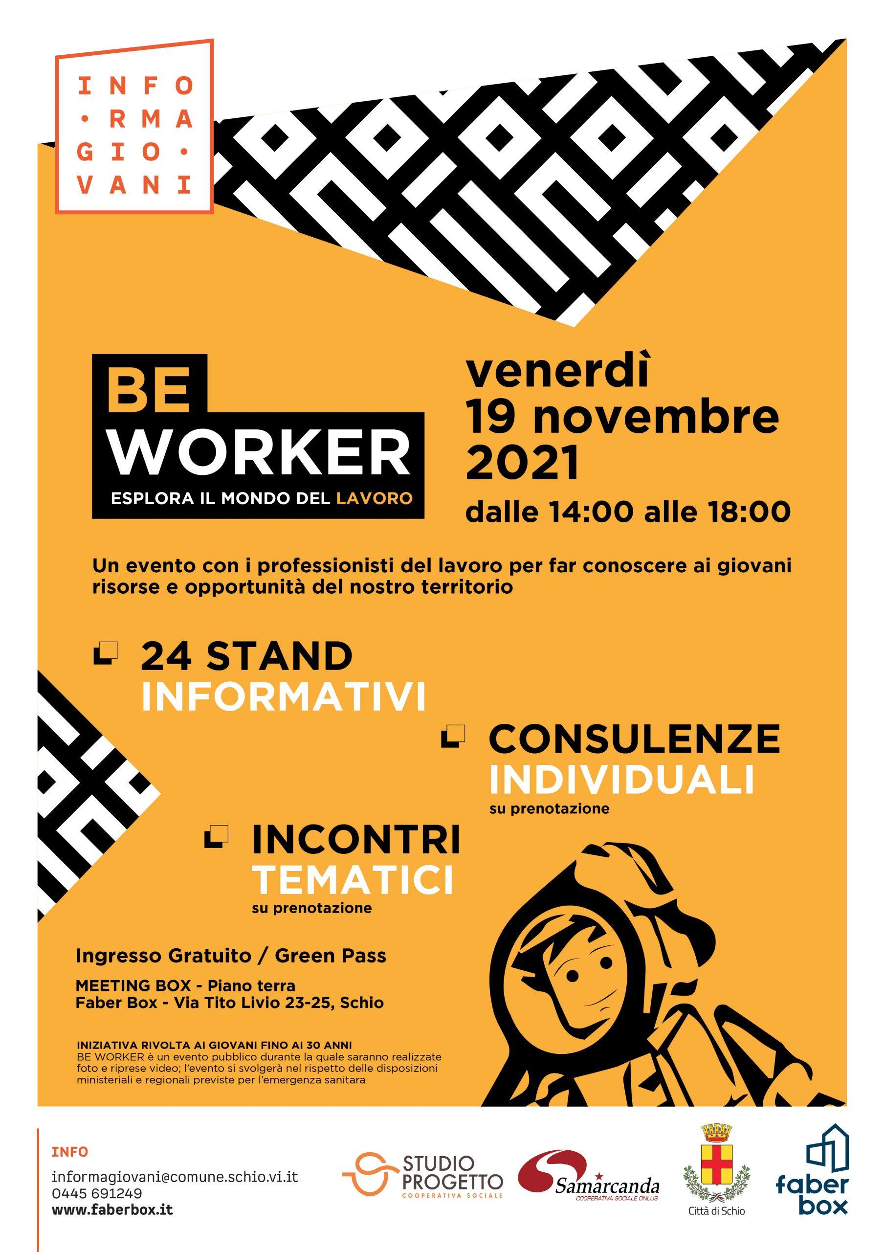 Be Worker 2021 – esplora il mondo del lavoro